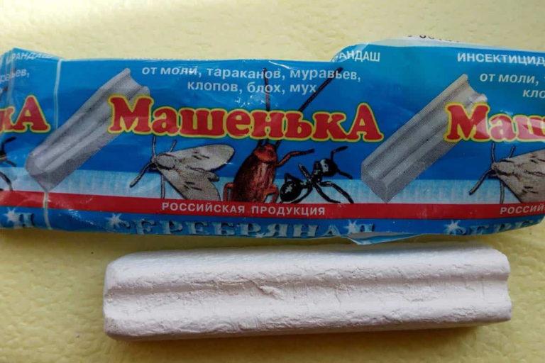 """Insecticidal Chalk """"Masha"""" (Venäjä) avulla voit päästä eroon paitsi muurahaisista vaan myös muista haitallisista hyönteisistä: koi, torakot, kirppuja ja lentää. Tärkeää yksityiskohtaisesti - lääkkeen komponentit päivitetään säännöllisesti"""