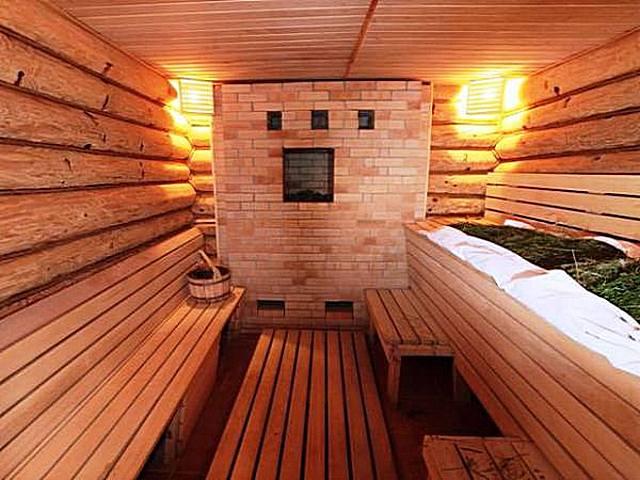 Backstein-Badeöfen schaffen eine besonders günstige Atmosphäre im Dampfbad