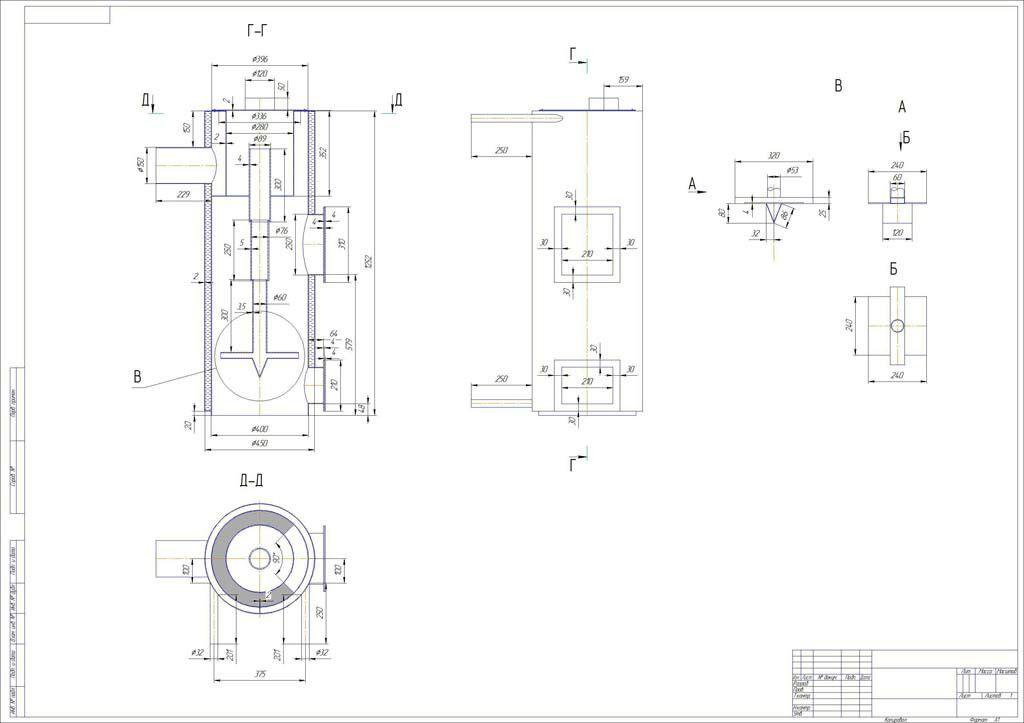 Menggambar boiler