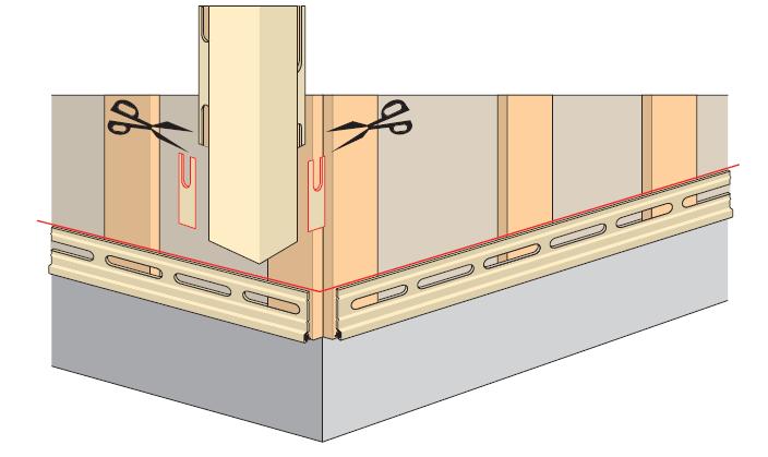 代替缩进,可以修剪轮廓的紧固件