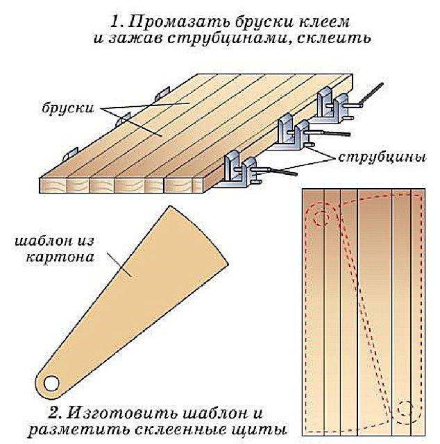 Börtön fűrészáru egy panelben és lépéseket jelölve