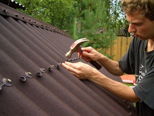 Cierre de techos de ondulina