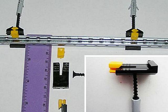 प्लास्टिक कंपाउंड क्लिप के साथ बीकन प्रोफाइल के लिए फिक्सिंग सिस्टम