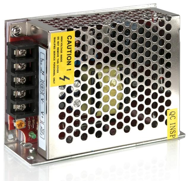 Ett exempel på strömförsörjning för LED-armaturer.