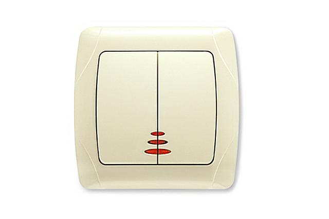 Tüm zamanlar, ışık göstergesi ile anahtarlara alışmıştır. Bireysel durumlar hariç, uygun.