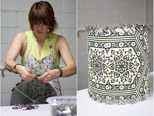 ساخت پارچه به یک قاب برای مناسب مناسب.