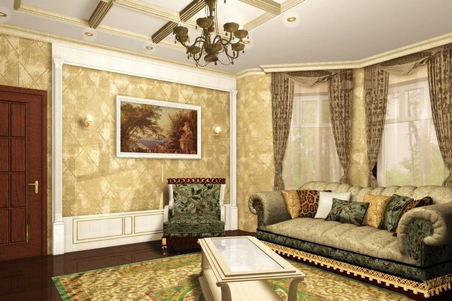 Pouco pode comparar com papéis de parede têxteis pelo nível de conforto criado.