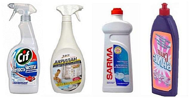 Моющие средства для акриловой сантехники – ищите прямые указания в описаниях продукции.