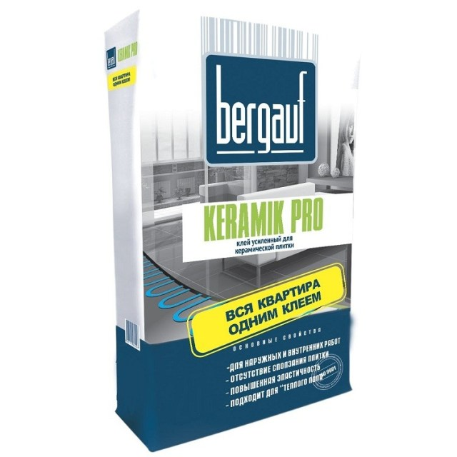 Клеевые составы для керамогранита. Выбор клеевого состава в зависимости от условий использования Bergauf Keramik Pro Строительный портал