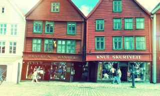 The leaning Hanseatic buildings of Bryggen. © David-Kevin Bryant