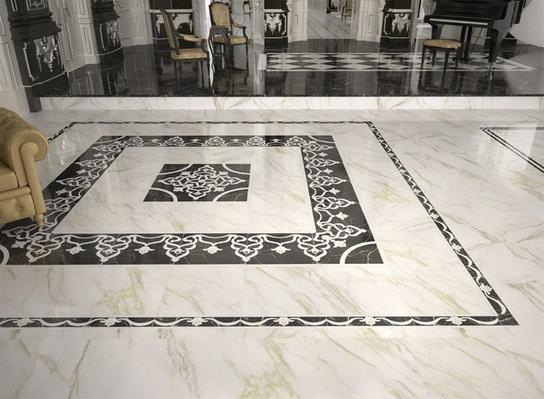 Bodenfliesen Innenbereich Wohnbereich glänzend Dekor Muster