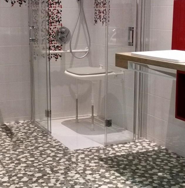 Badezimmer Bad Bodenfliesen Muster Dekor Ambiente