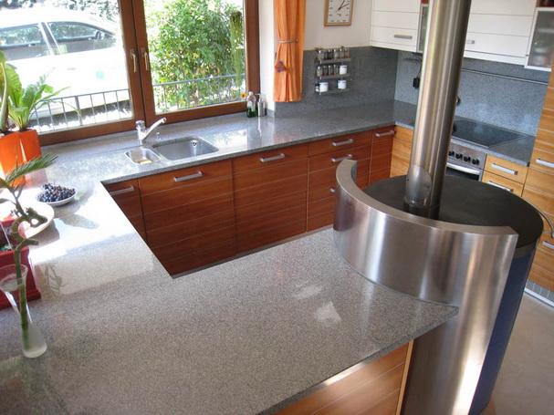 Küchenarbeitsplatte Naturstein Küche grau