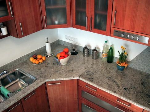 Küchenarbeitsplatte Naturstein Küche Grau Marmoroptik