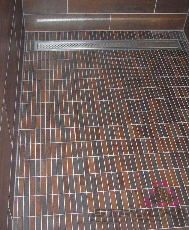 Stäbchenmosaik Mosaik Stäbchen Dusche
