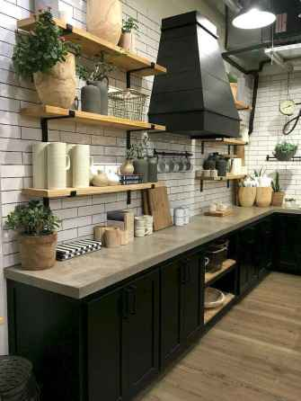 25 rustic kitchen decor with open shelves ideas