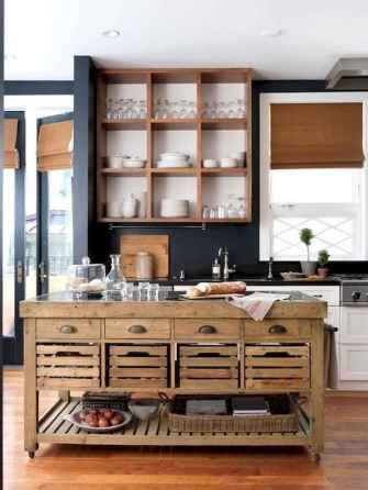 34 rustic kitchen decor with open shelves ideas