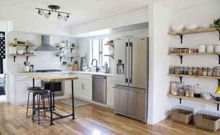 37 rustic kitchen decor with open shelves ideas