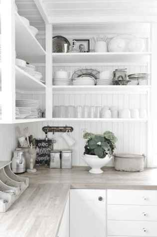 46 rustic kitchen decor with open shelves ideas