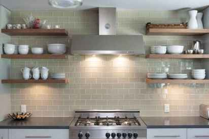 48 rustic kitchen decor with open shelves ideas