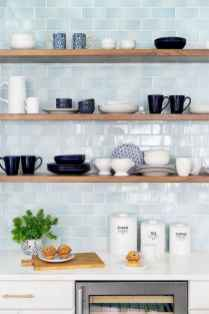 55 rustic kitchen decor with open shelves ideas
