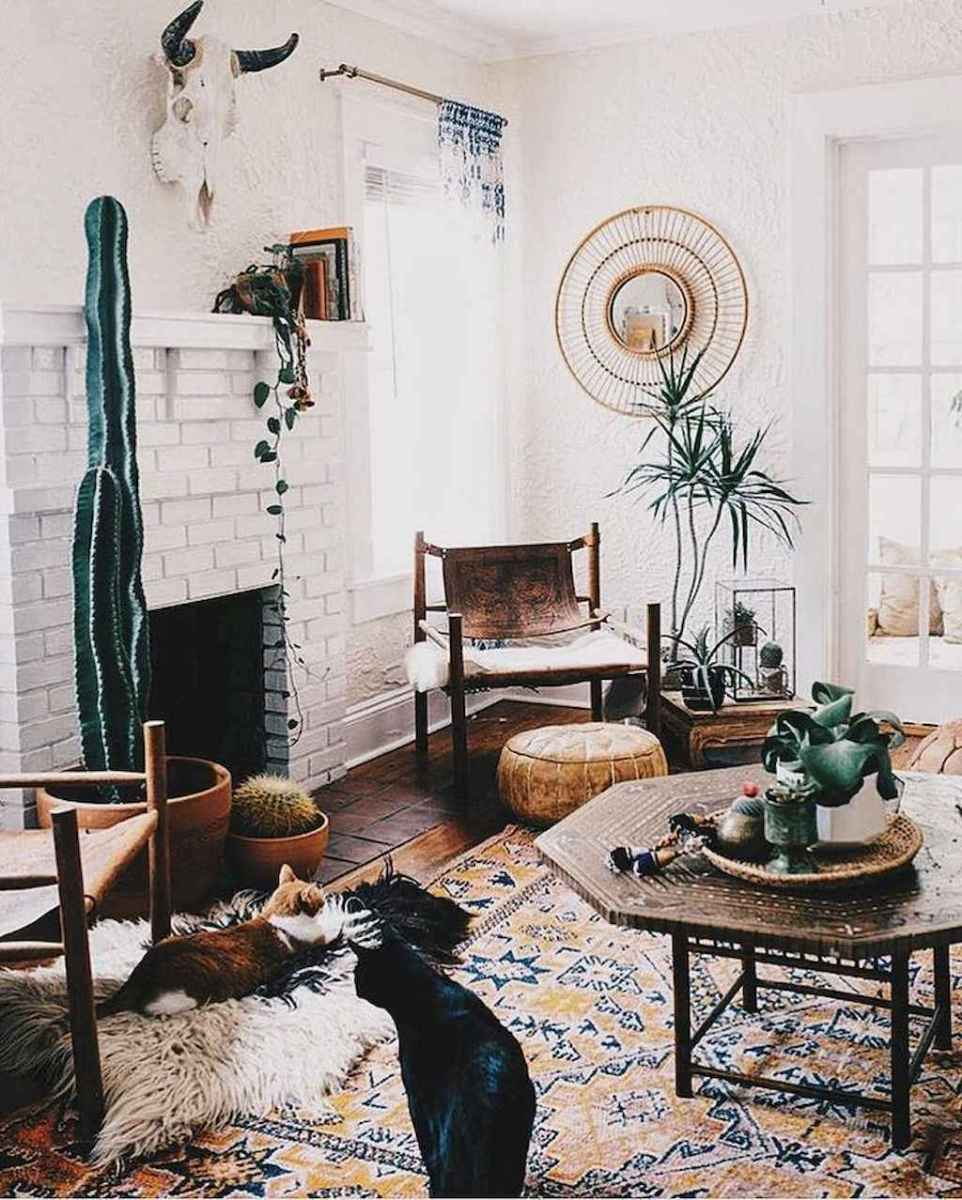 62 cozy bohemian living room decor ideas