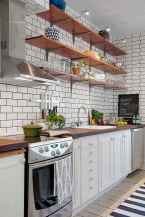 65 rustic kitchen decor with open shelves ideas