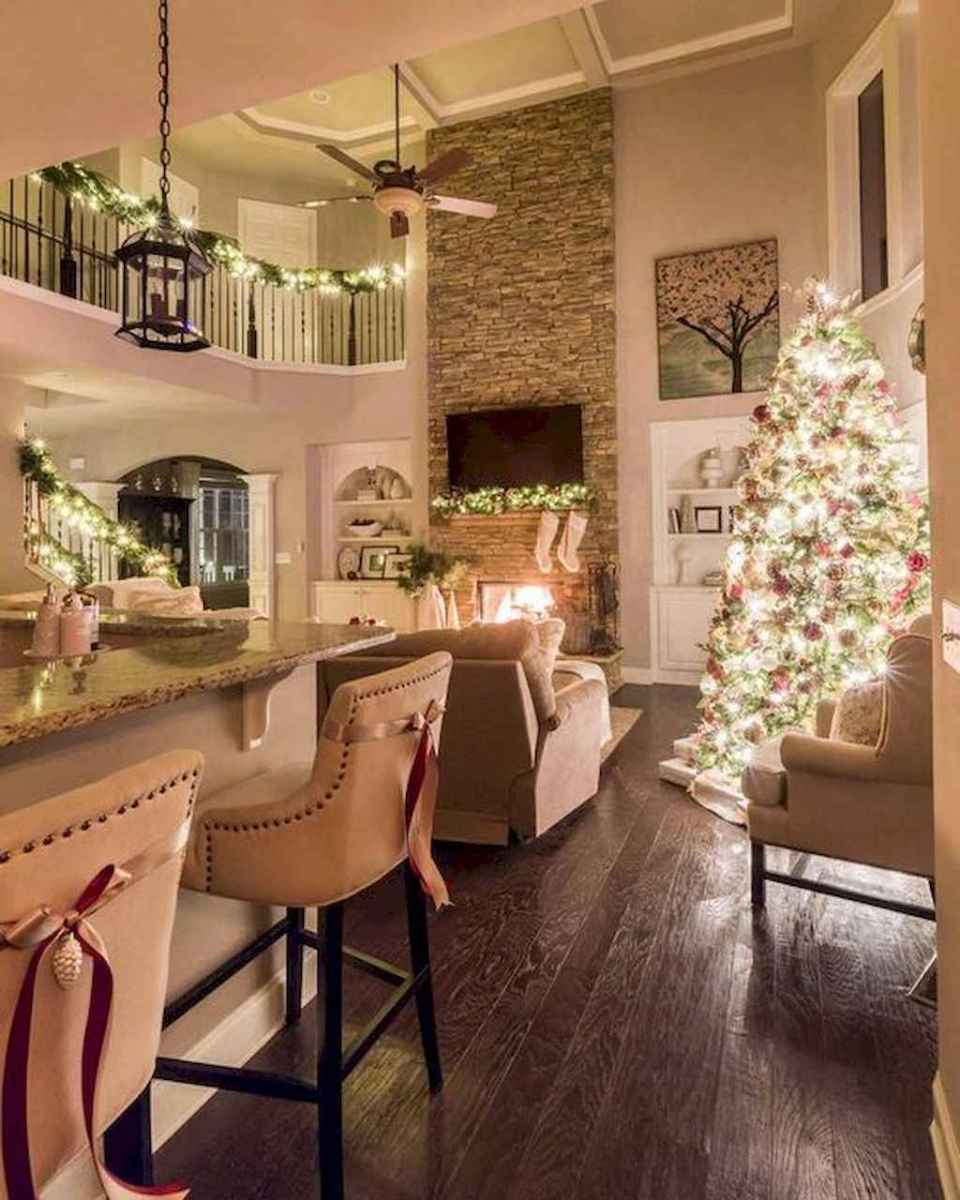 07 cozy christmas living rooms decorating ideas