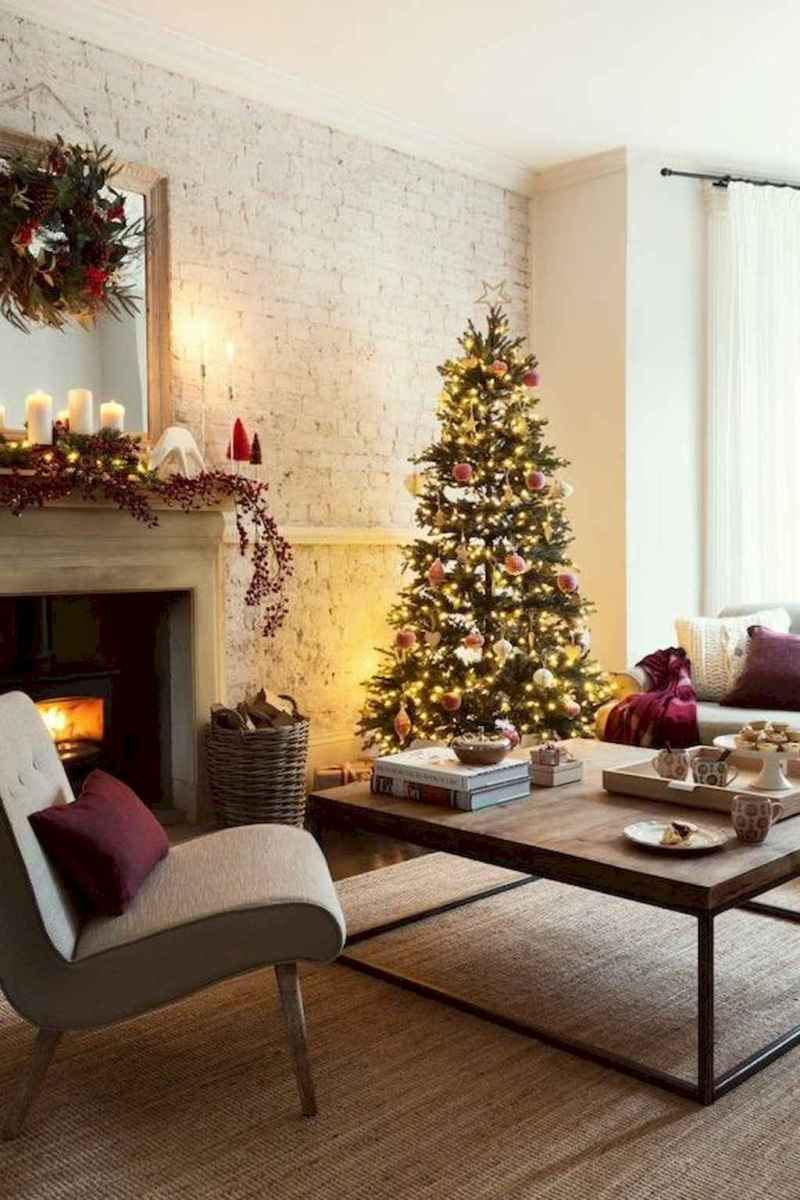 34 cozy christmas living rooms decorating ideas