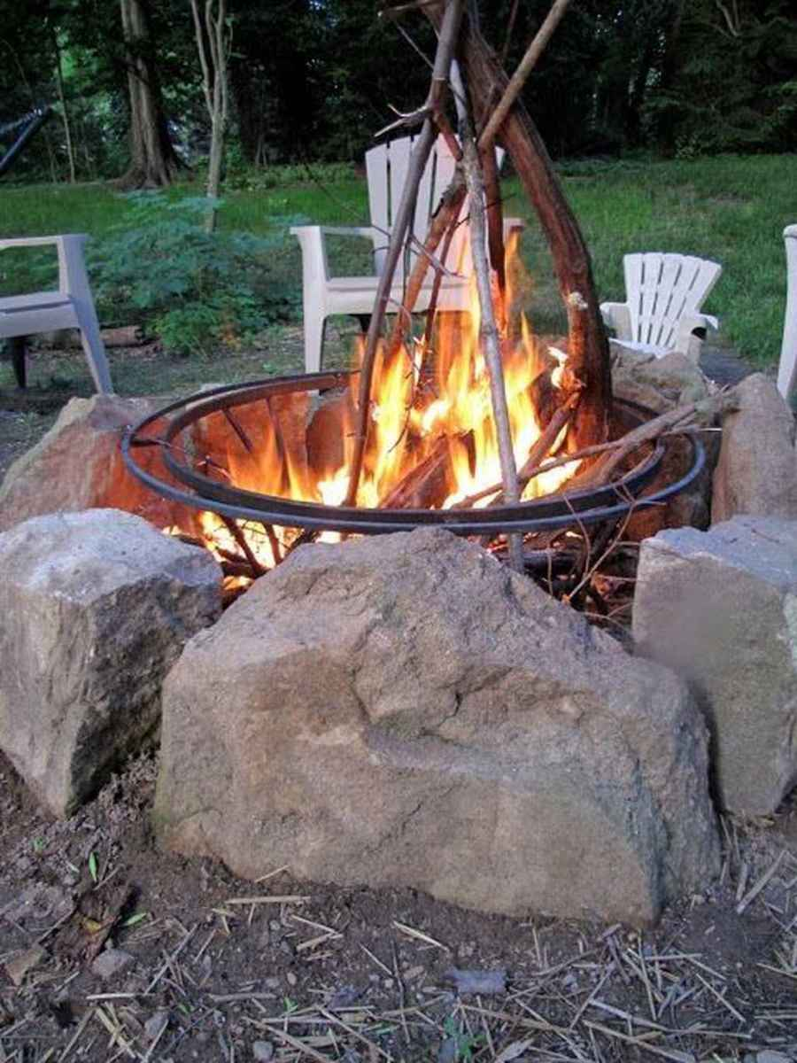07 cozy outdoor fire pit seating design ideas for backyard