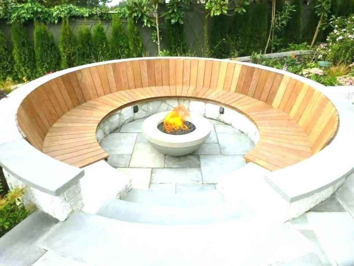 44 cozy outdoor fire pit seating design ideas for backyard