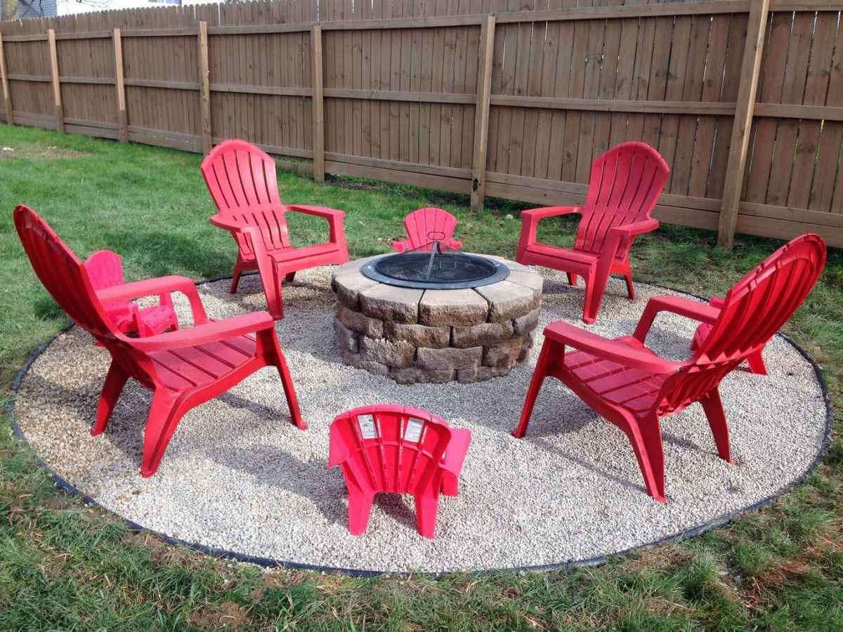59 cozy outdoor fire pit seating design ideas for backyard