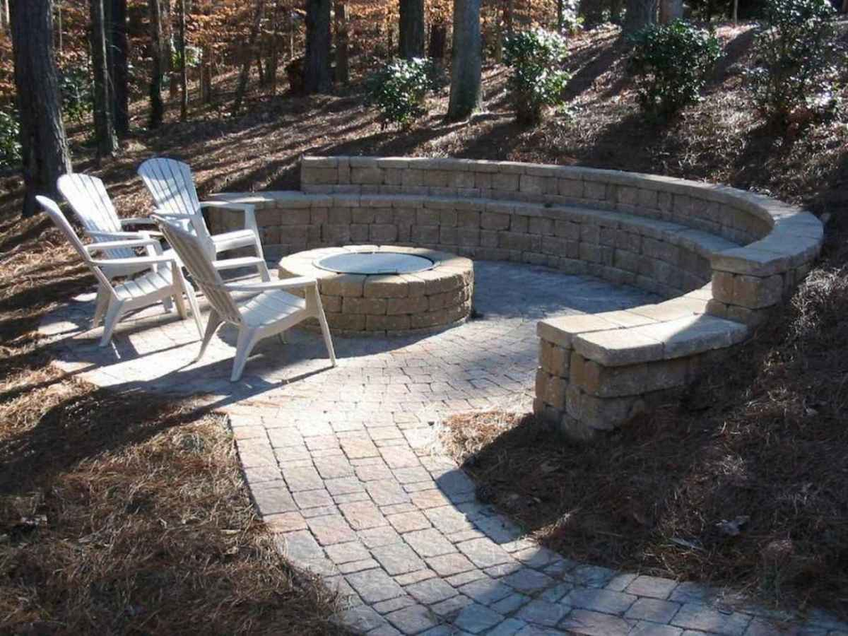 62 cozy outdoor fire pit seating design ideas for backyard