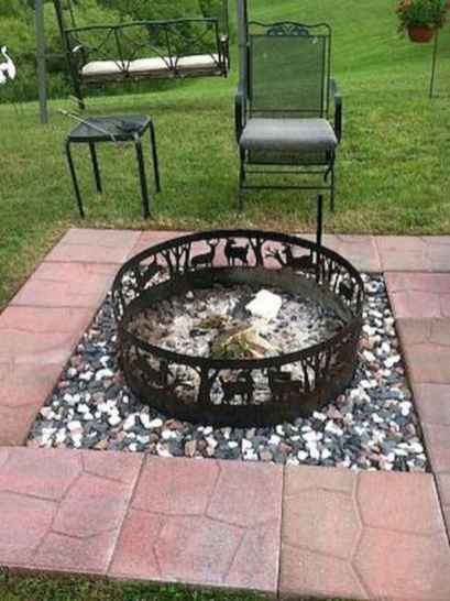 84 cozy outdoor fire pit seating design ideas for backyard