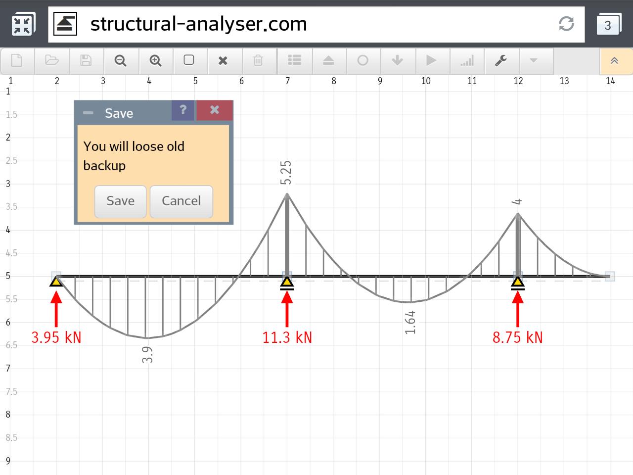 hight resolution of simple bridge force diagram