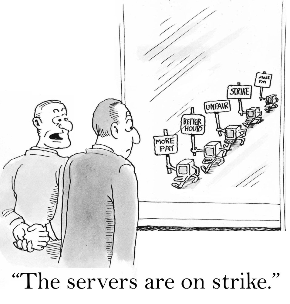 Servers on strike