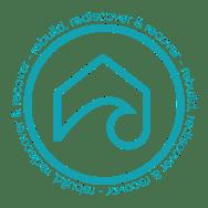 Surfside Structured Sober Living blue circle logo