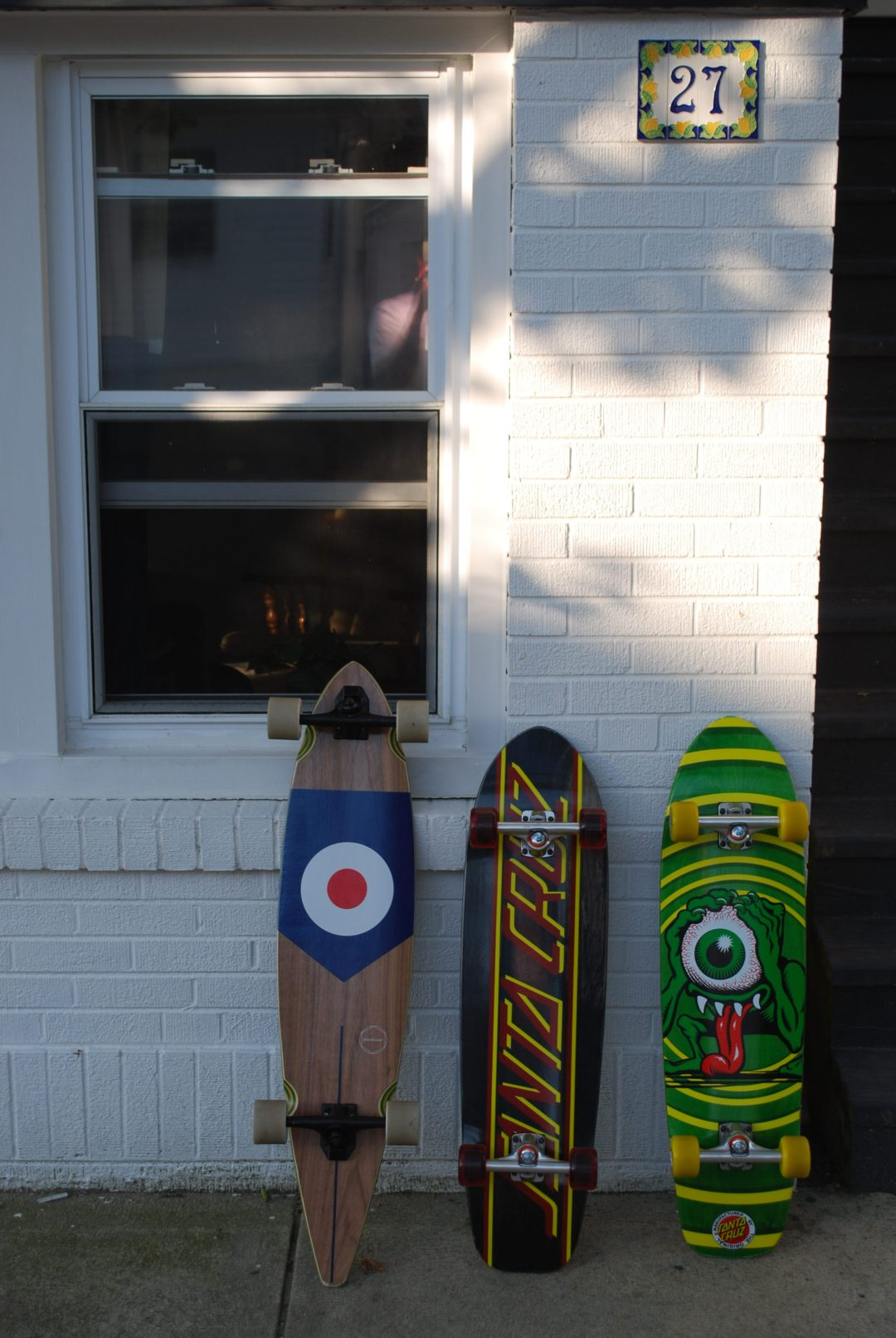 new skate boards at the sober house