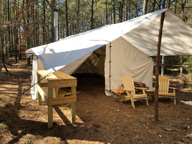 Sober camp site