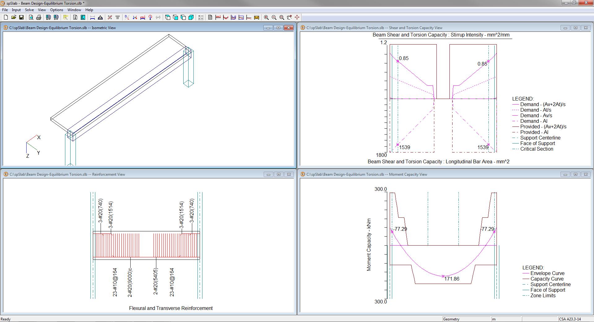 hight resolution of spandrel beam equilibrium torsion design of longitudinal reinforcement for moment transverse additional longitudinal reinforcement for shear and torsion