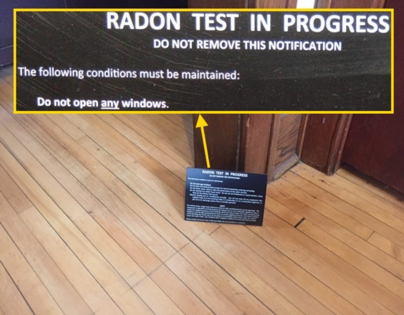Testing for radon Close ALL of the windows not just the basement windows  Structure Tech Home