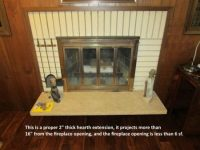 Fireplace hearth extension rules - Structure Tech Home ...