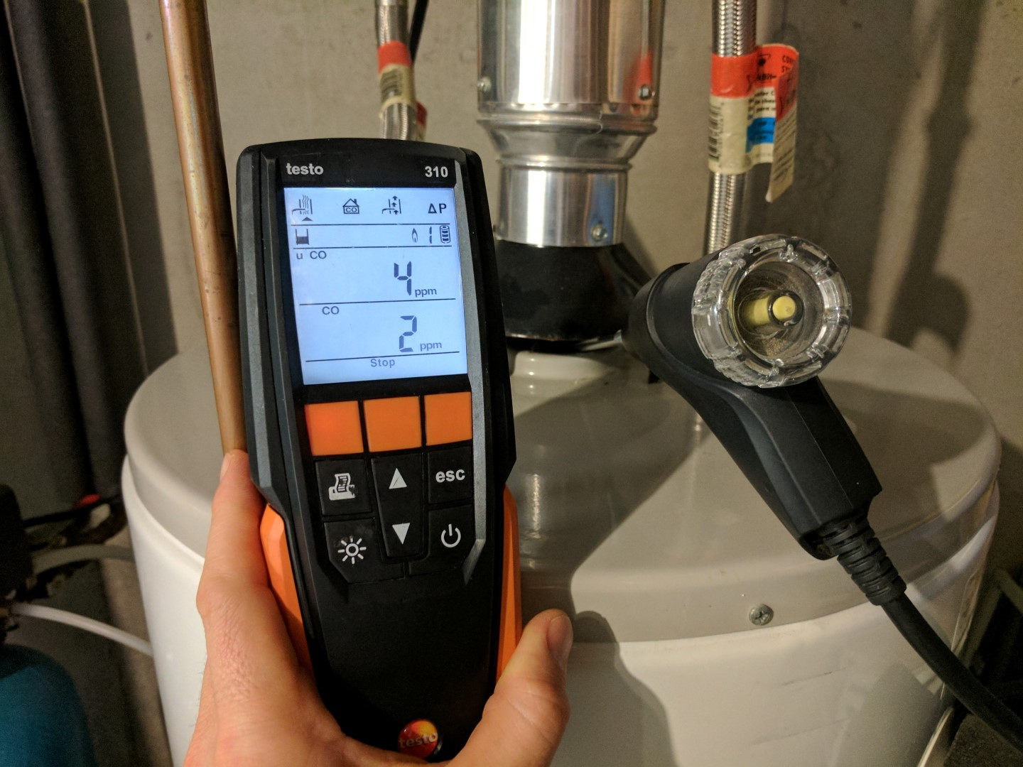 hight resolution of low co at water heater