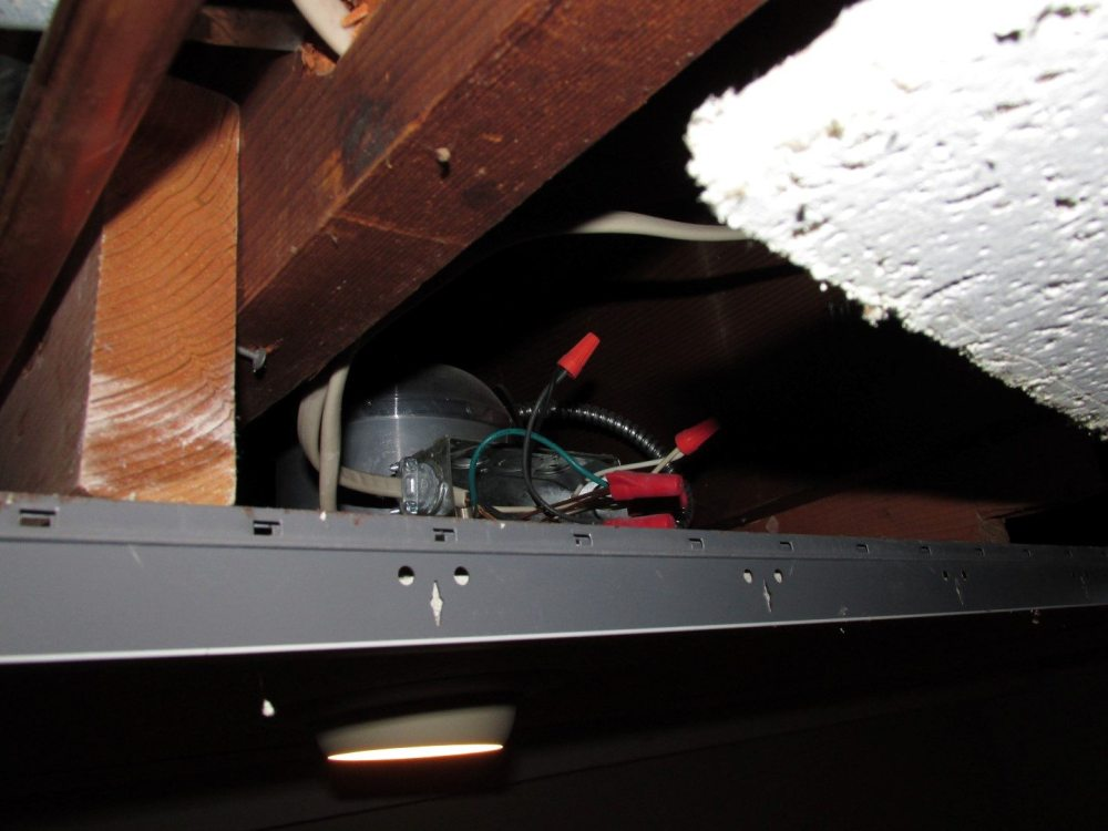 medium resolution of open electrical splices hazardous wiring above dropped ceiling