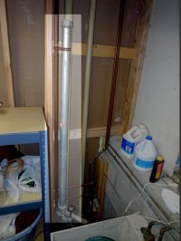 Banging pipes are caused by water hammer