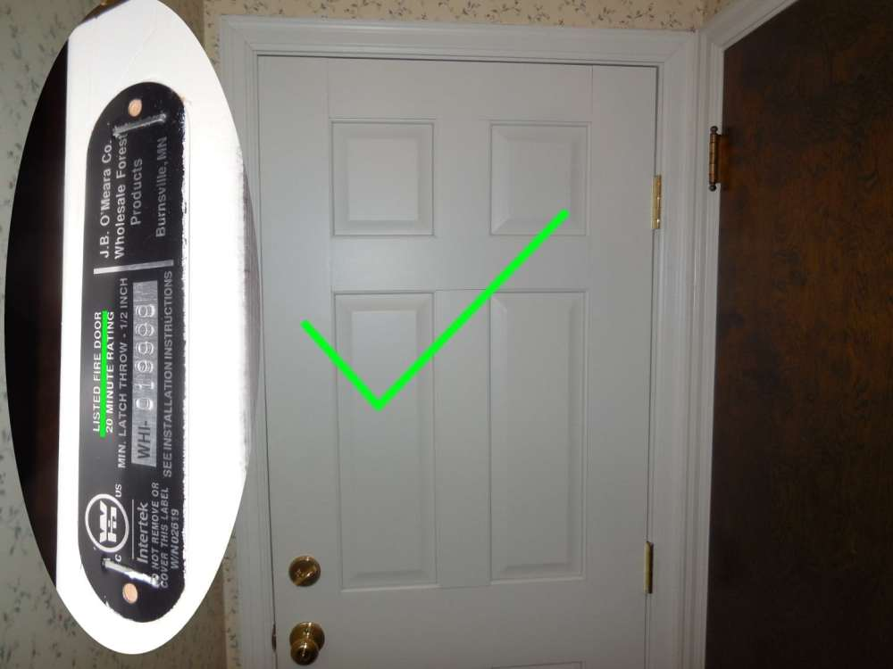 medium resolution of six panel fire door
