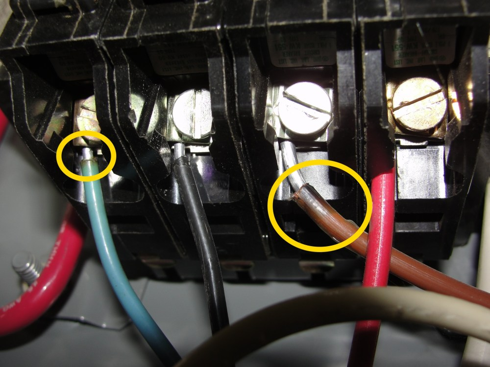 medium resolution of here s an assortment of scorched aluminum wires that we ve found during our home inspections these constitute fire hazard conditions