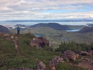 The view from China Poot Peak, stiff climb, only to find all massive greywacke, but the view was worth it.