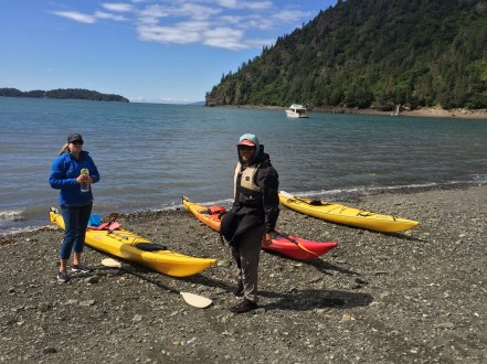 Getting ready for our first geology-by-kayak day