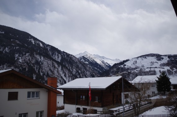 Views from the SGT Science and Ski Retreat in Disentis.